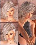 Lange silberne haare